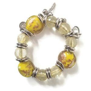 Banana Republic bracelet elastics yellow OS